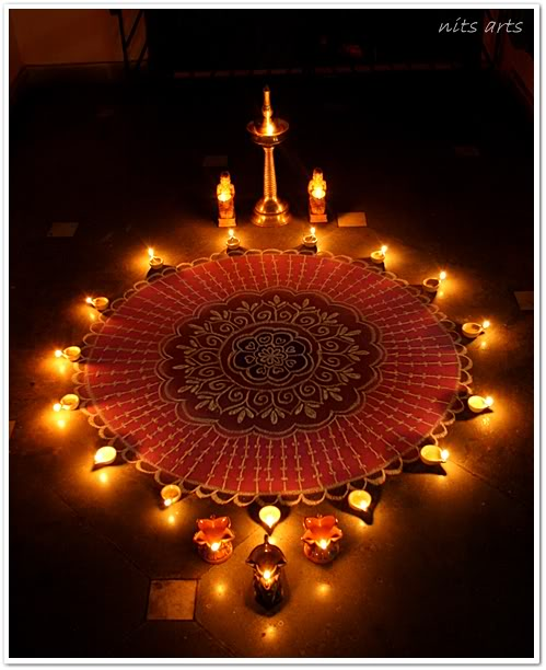 Material Girl Loves The Material World Diwali Decorating Three Kolam