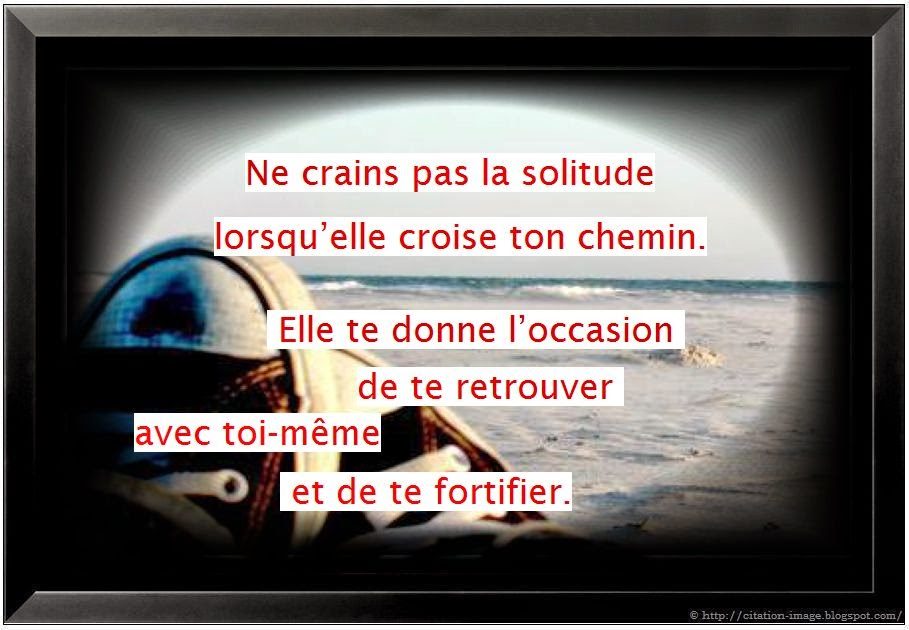 Citation solitude en image