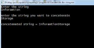 concatenate string c code