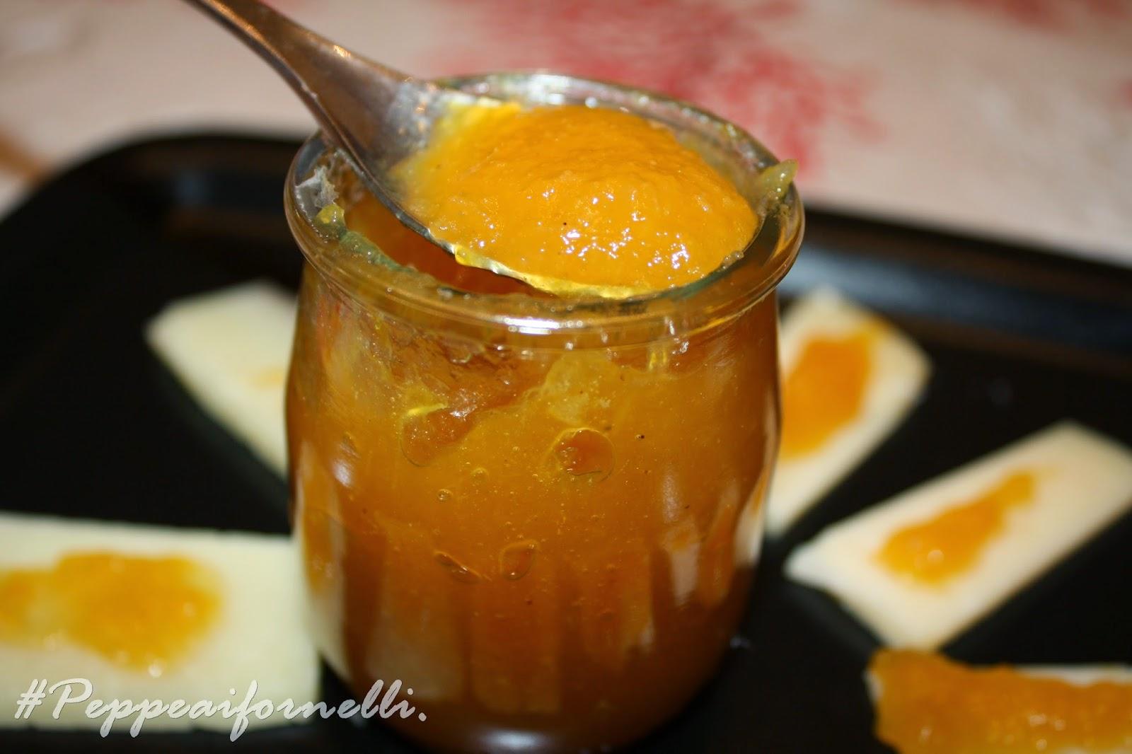 mostarda di arance e cipollotti di acquaviva.