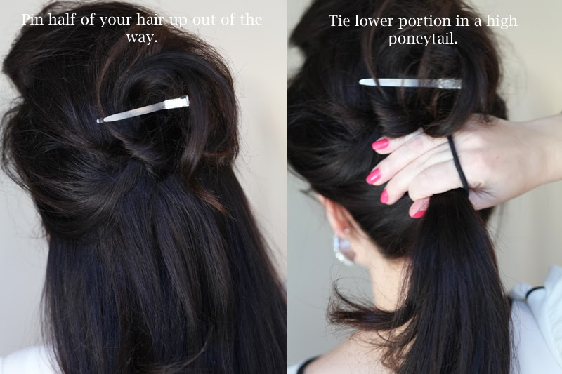 new-years-eve-poneytail-hair-tutorial-glam-hair-2014-king-and-kind-san-diego-blogger-brunette