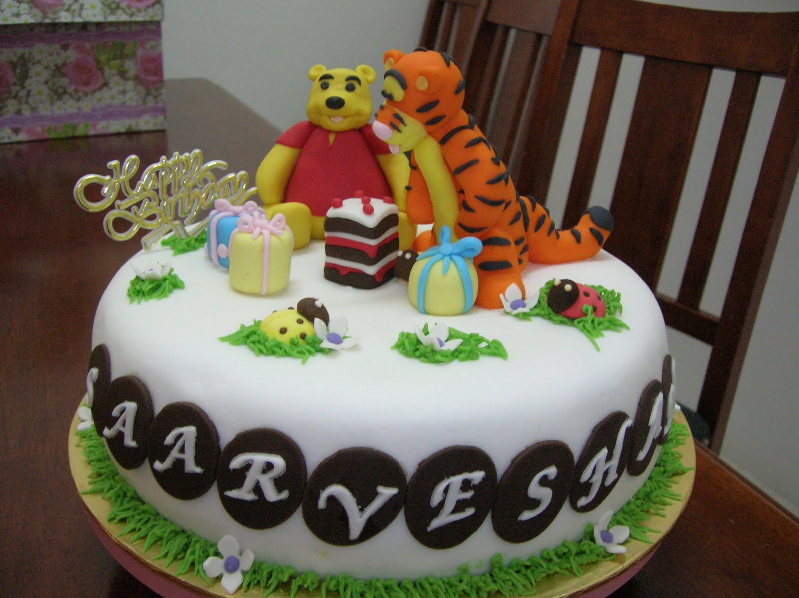 Saarveshans 3rd Year Birthday Cake Chocolate Mud With Ganache And Butter Icing Covered Fondant