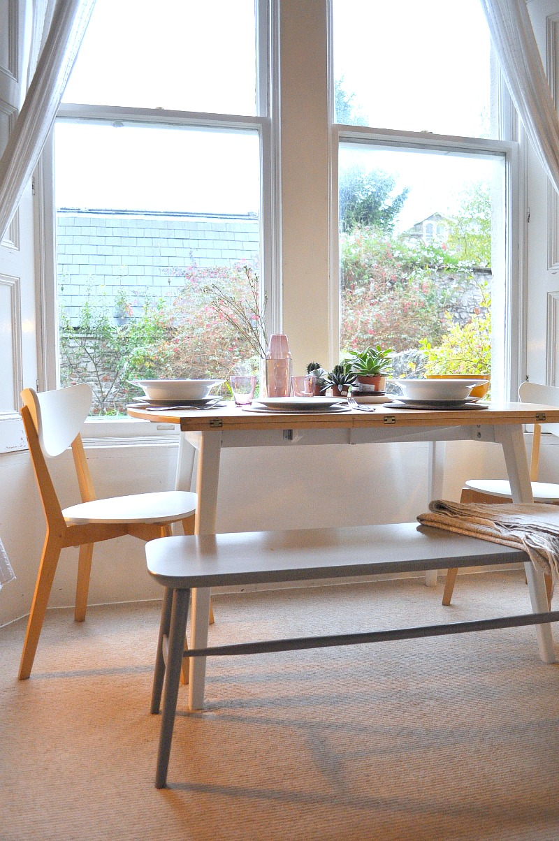 Evening supper with the Habitat Talia Bench