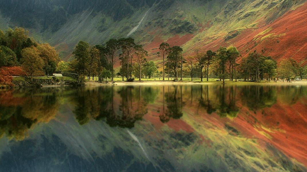 Un mundo en paz el oto o reflejado en espejos naturales - Imagenes paisajes otonales ...