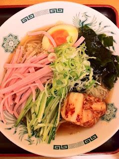 越谷のラーメン、日高屋の岩手盛岡冷麺半チャーハンセット¥740