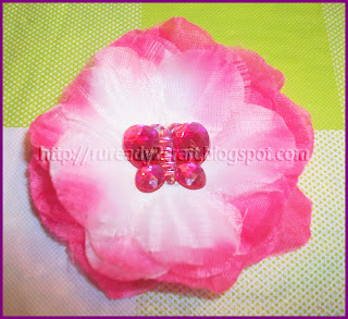 luau flower petals with embellishment for hair bow craft