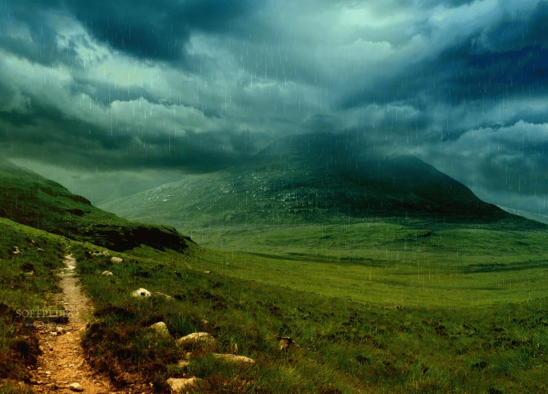 Storm Raining Animated Wallpaper