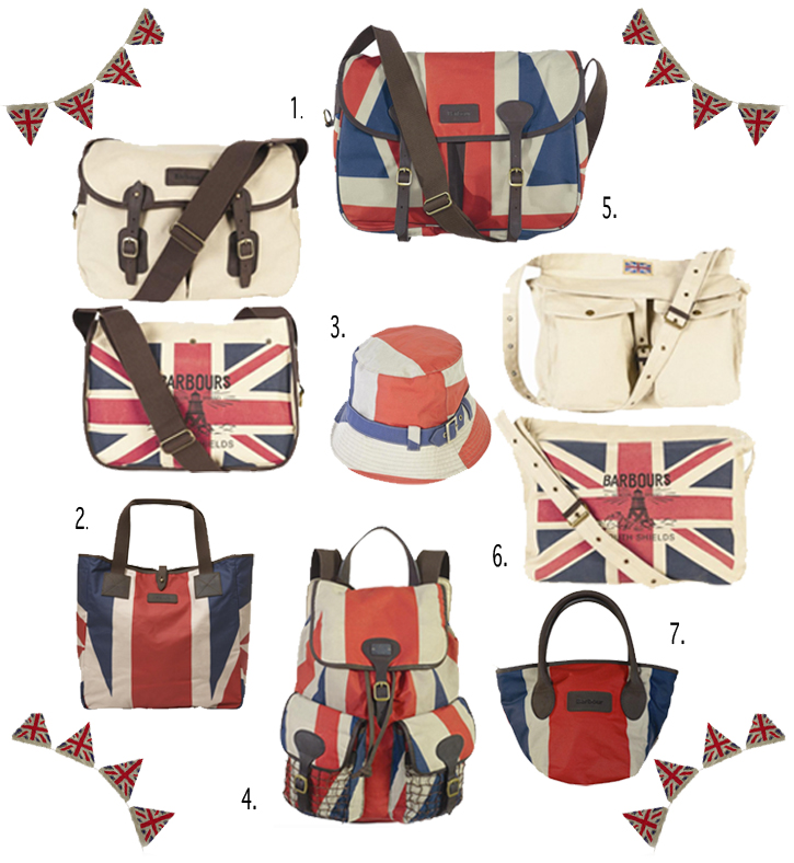 Womens Union Jack Barbour Waxed Canvus Shopper, Satchel, Rucksack, Napsack, British Flag fashion, Jubilee fashion, Queen's Jubilee 2012