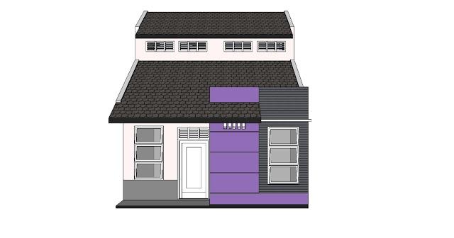 Desain Rumah Minimalis 6 x 9 m tampak depan