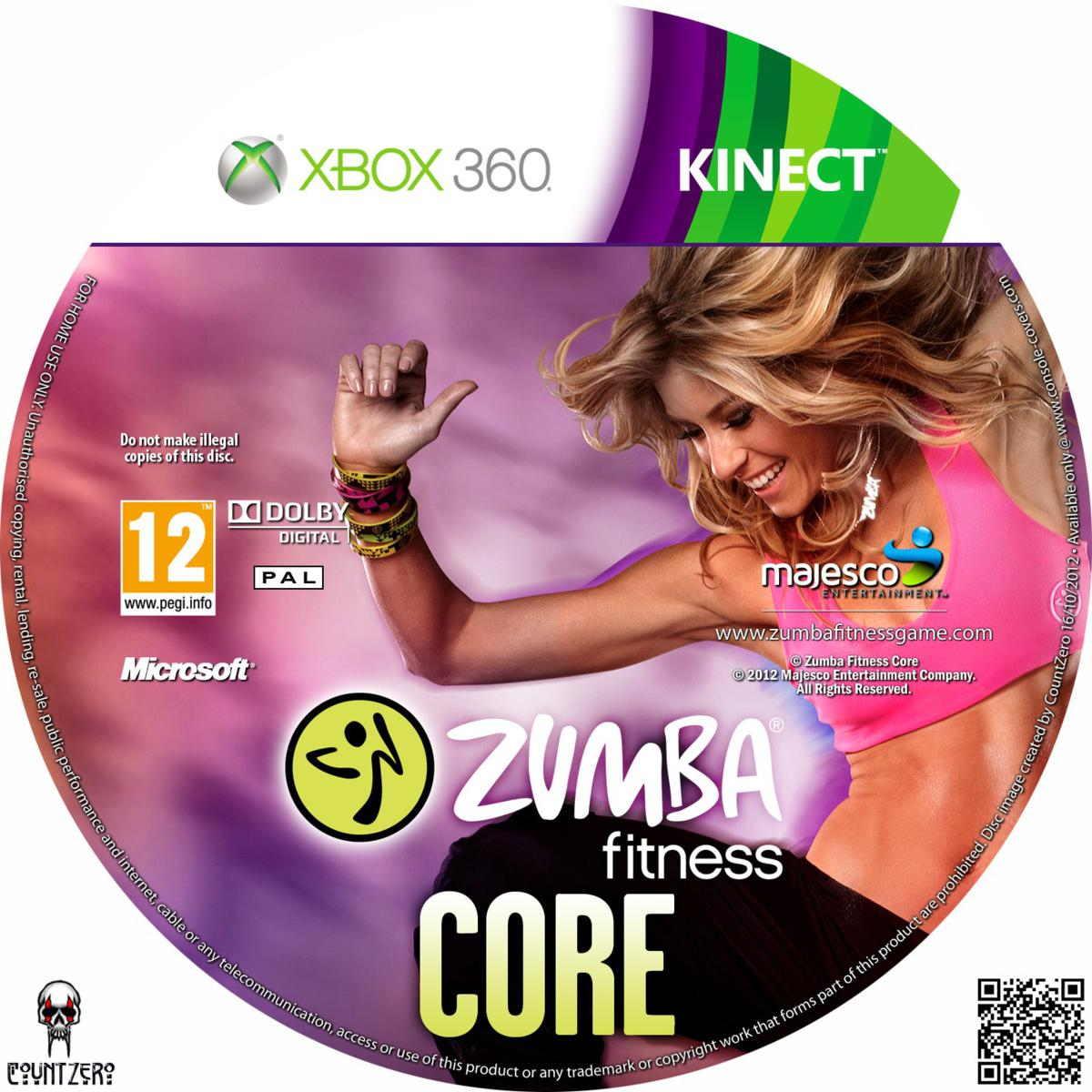 label zumba fitness core xbox 360 gamecover capas customizadas para dvd e blu ray. Black Bedroom Furniture Sets. Home Design Ideas