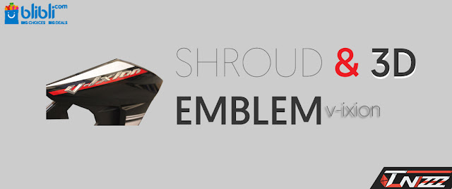3d emblem air shroud new vixion advance