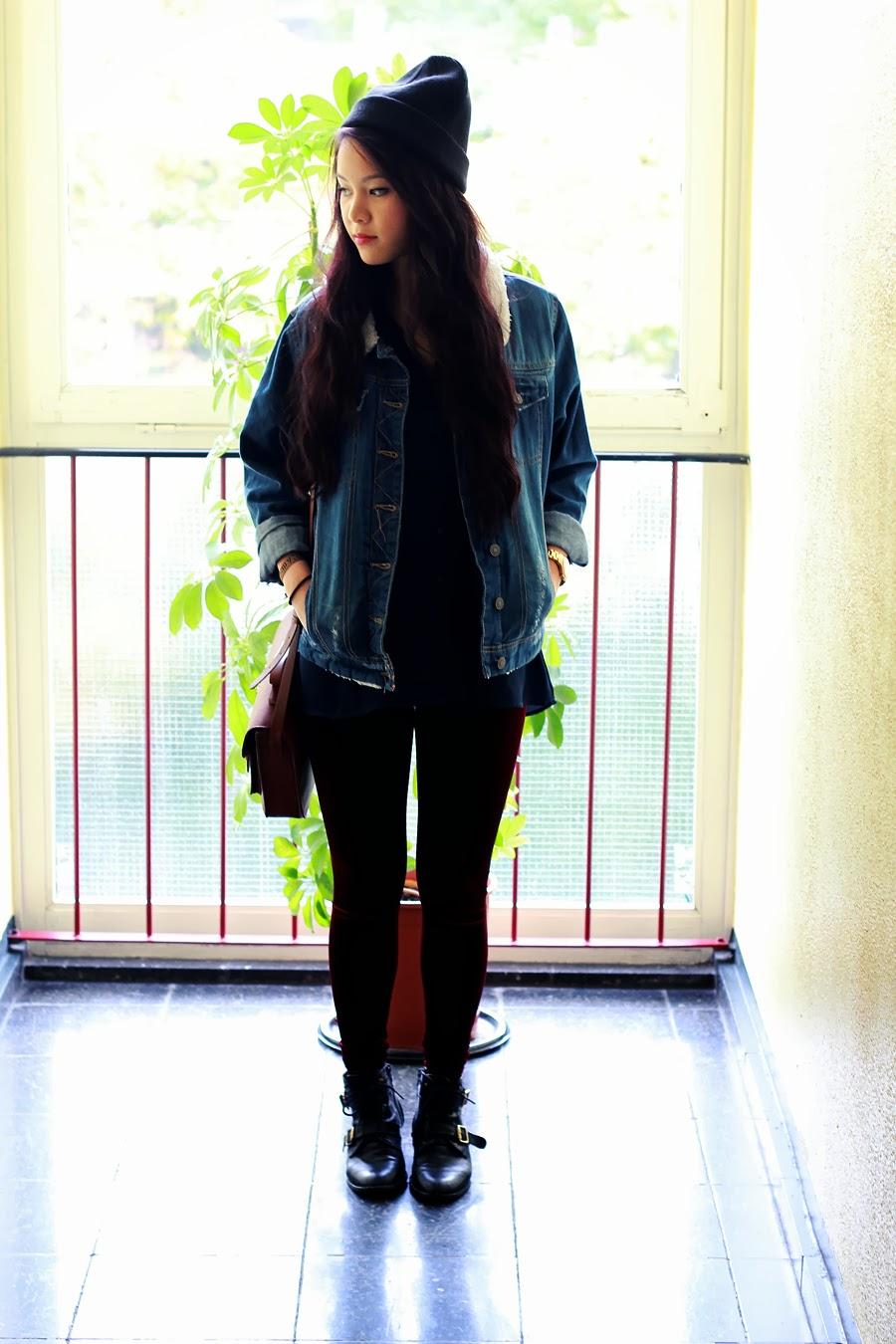 Primark Oversize Jeans Jacket Beanie