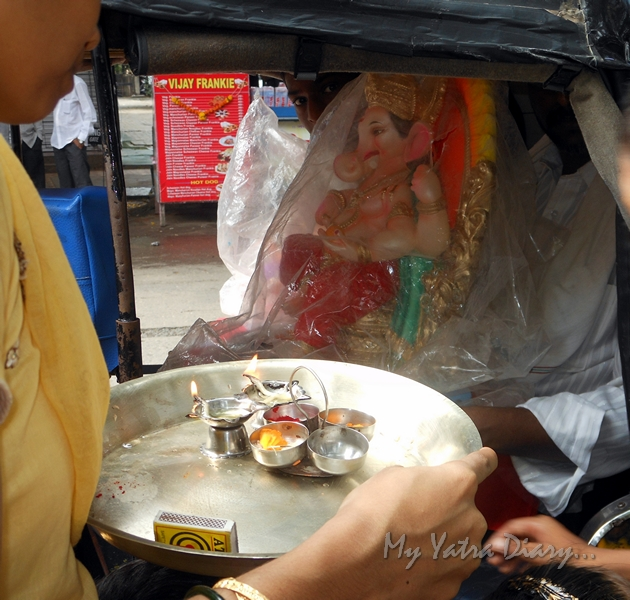 Ganesha in autorickshaw, Ganesh Chaturthi Festival, Mumbai