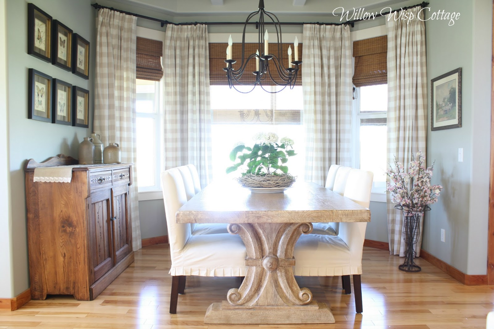Country dining room curtains
