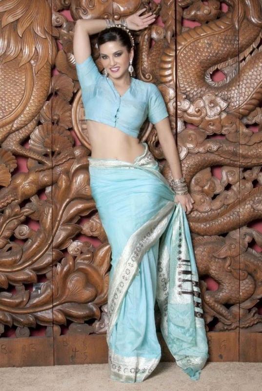 Sunny Leone In Saree Hot Photos