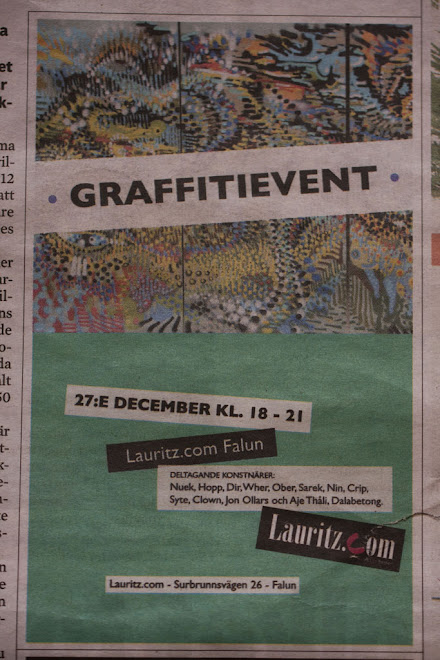 Graffitiutställning på Lauritz i Falun