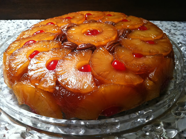 Pineapple Upside Down Cake – cooked in a seasoned iron skillet is ...