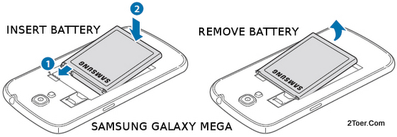 Samsung Galaxy Mega GT-I9205/GT-I9200 Insert Assemble Remove Battery