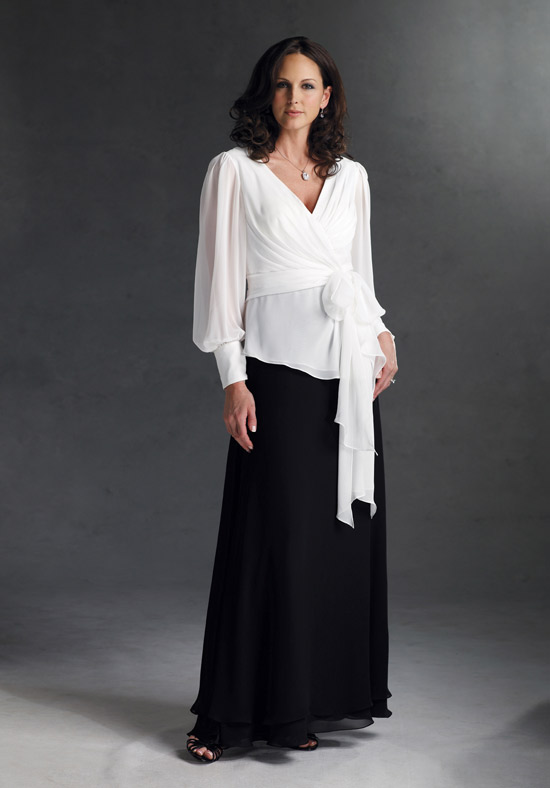 mother of the bride dress with long sleeves