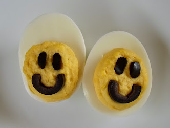 smiley face deviled eggs