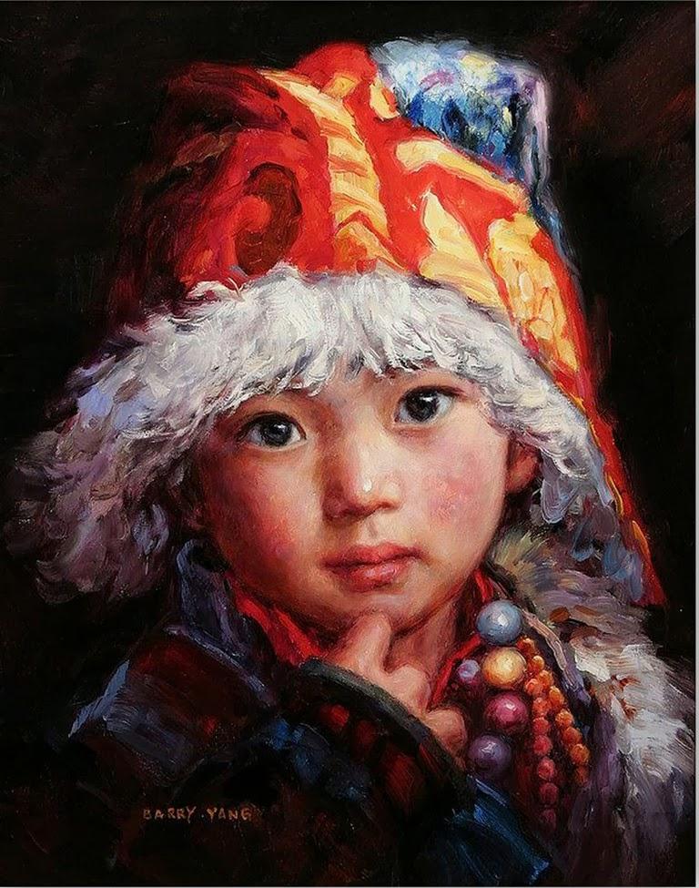 Pintura moderna y fotograf a art stica rostros de ni os - Pinturas de cara para ninos ...