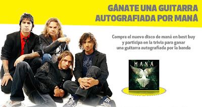 premios guitarra autografiada por Maná concurso best buy Mexico 2011