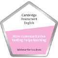 Digital badge on   How communicative testing helps learning