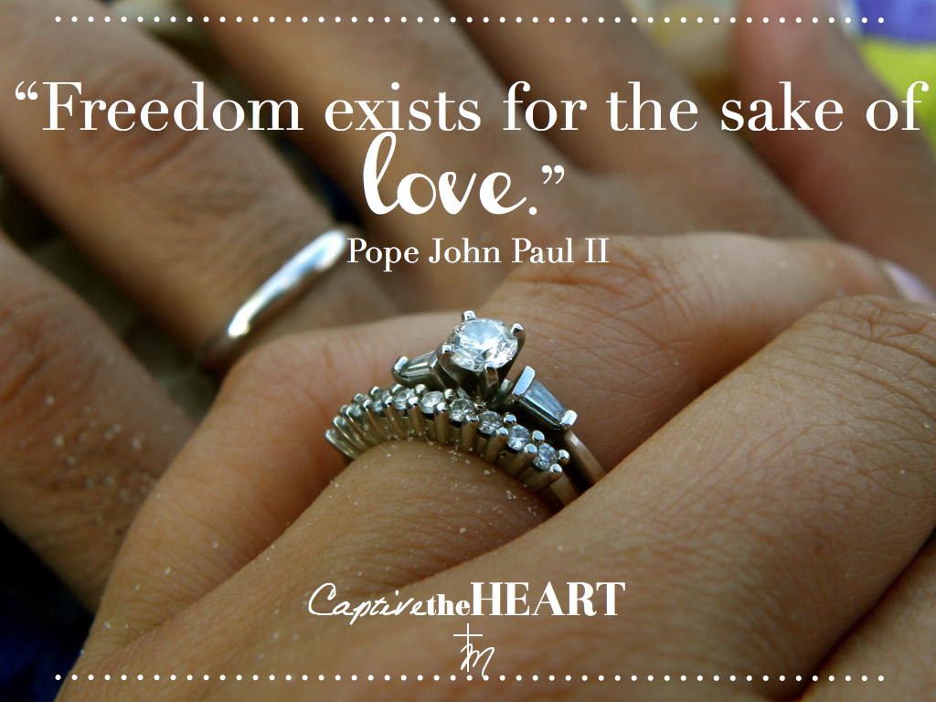 Catholic Quotes On Love Captive The Heart A Sprightly Wedding Blog For The Catholic Bride