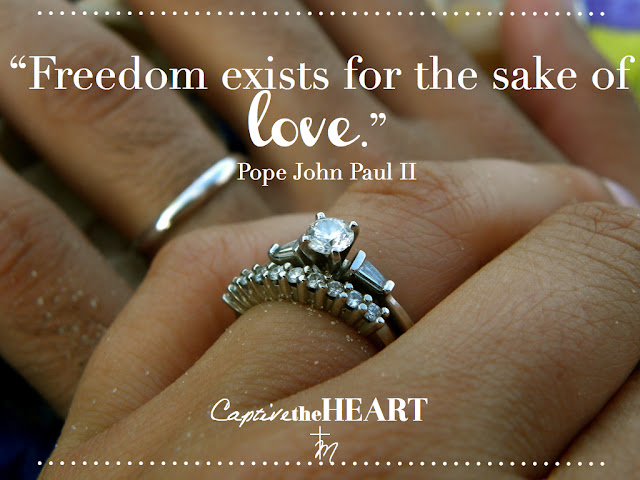 John Paul II quotes, marriage, love, freedom, catholic wedding