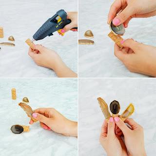 DIY, Como Decorar Corchos con Piedras de Agata