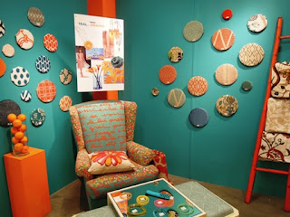 blue fabrics, teal fabrics, fabrics, orange fabrics