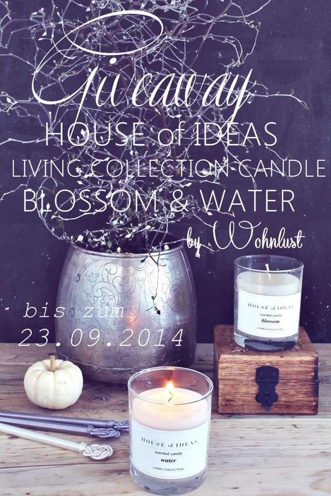 GIVEAWAY bei WOHNLUST & HOUSE of IDEAS