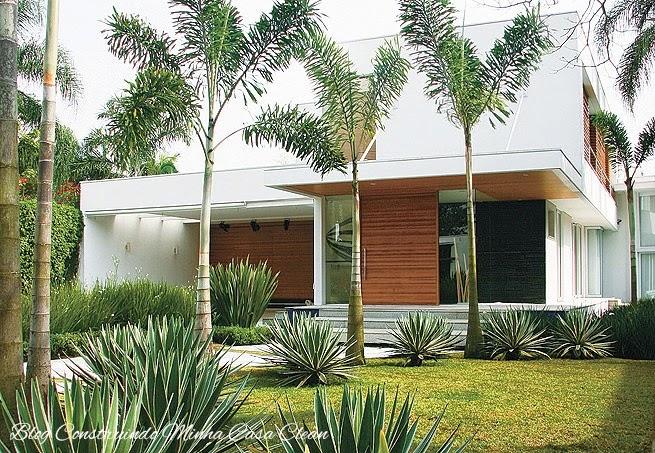 Construindo minha casa clean 25 fachadas de casas com palmeiras veja os tipos mais usados - Tipos de fachadas para casas ...