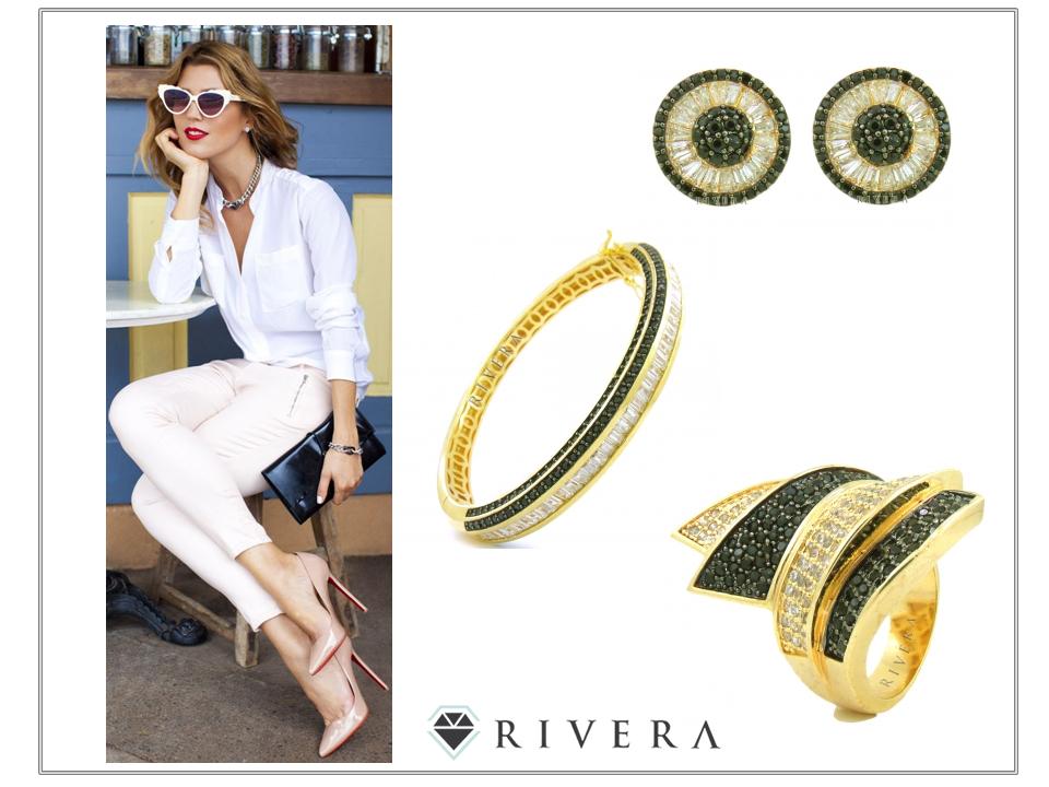 bracelete dourado anel zirconias