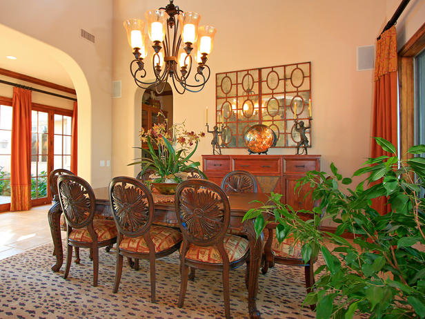 From The Leopard Rug To The Exotic Carved Dining Room Chairs This Dining  Room Has A Grand Feel Without Being Too Theme. Photograph By Cynthia  MacDonald.