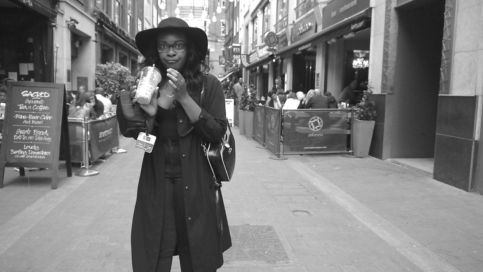 La Mode D'Emm Carnaby Street Black HM Duster Coat ASOS Cut Out Boots