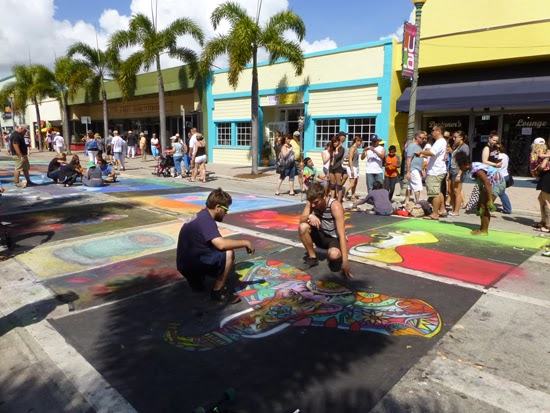 Barber Shop Grapevine : Coconut Grove Grapevine: The Lake Worth Street Painting Festival