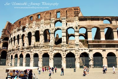 Travel Photos Marjolyn Lago indulging the beauty of the Colosseum Rome Italy. avenue de champs elysees pictures from france photos