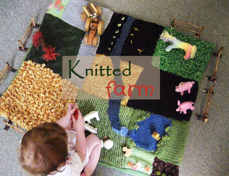 Happy Whimsical Hearts: Knitted farm