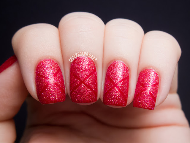 Chalkboard Nails: Couture de Minnie Tape Manicure