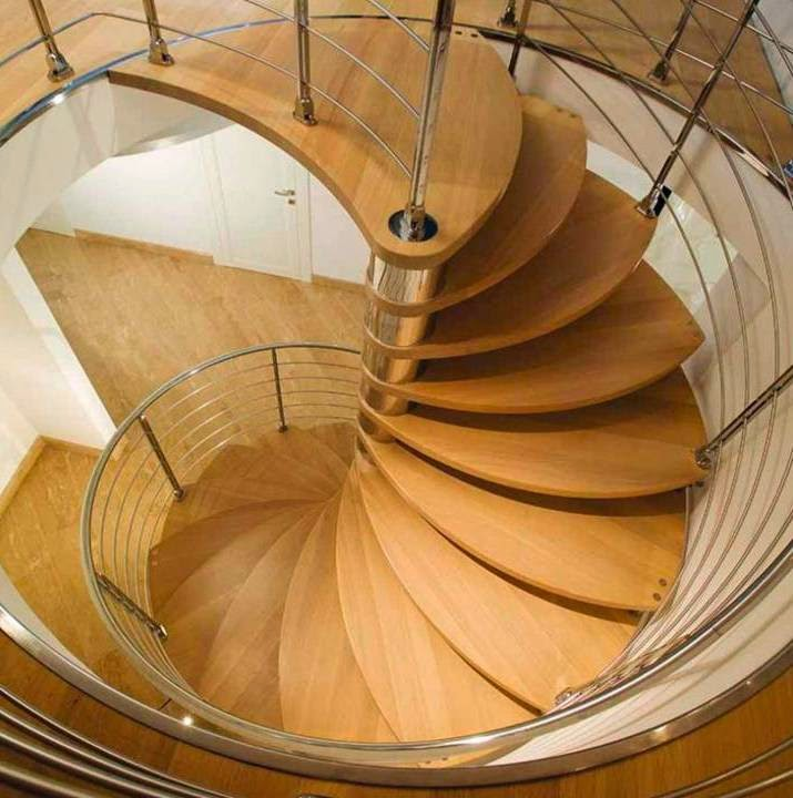 home decor amazing spiral staircase with slide wooden design