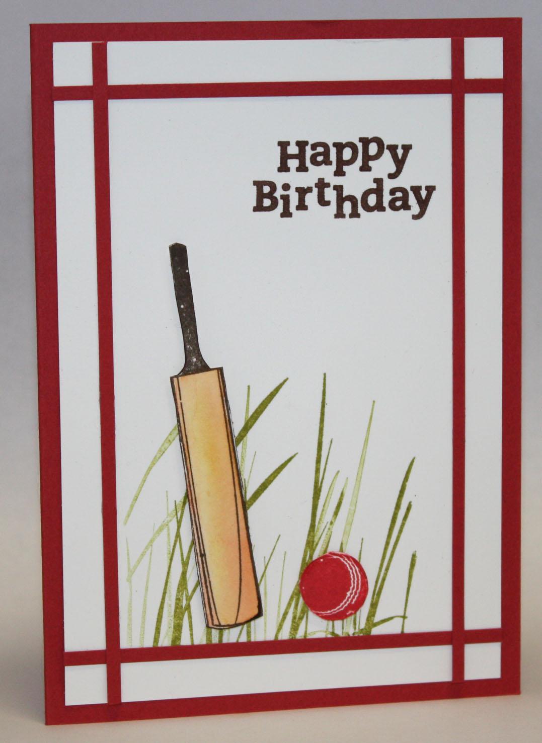 Crafty Kims Creations CricketThemed Birthday Celebration – Themed Birthday Cards