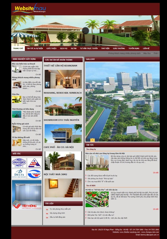 thiết kế web kiến trúc xây dựng đẹp