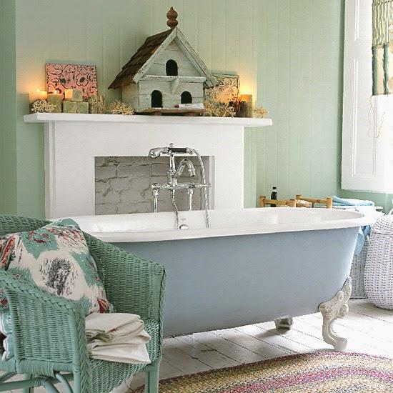 30 baños vintage para inspirarte
