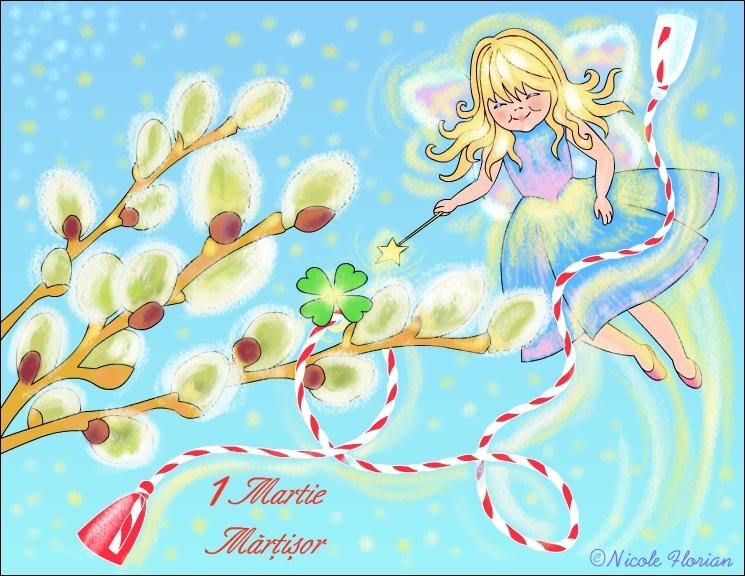 ZANA MARTISOR * Desen de colorat cu MARTISOR * Coloring Spring ...