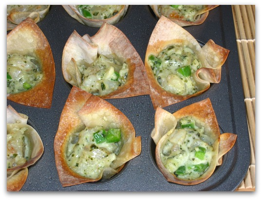 Mango-Curry Shrimp Salad In Wonton Cups Recipes — Dishmaps
