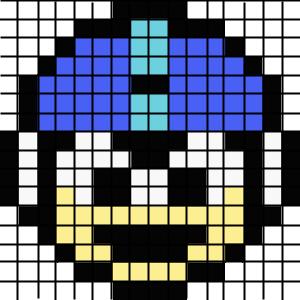 Minecraft pixel art idea megaman head