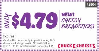 Chuck E Cheese Coupons ( Printable )