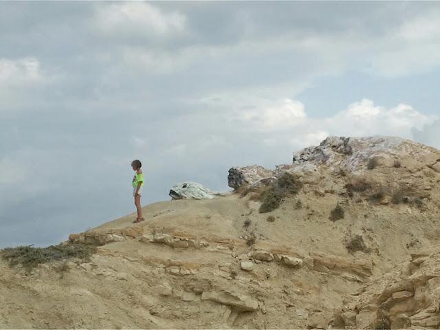 playa, rocas