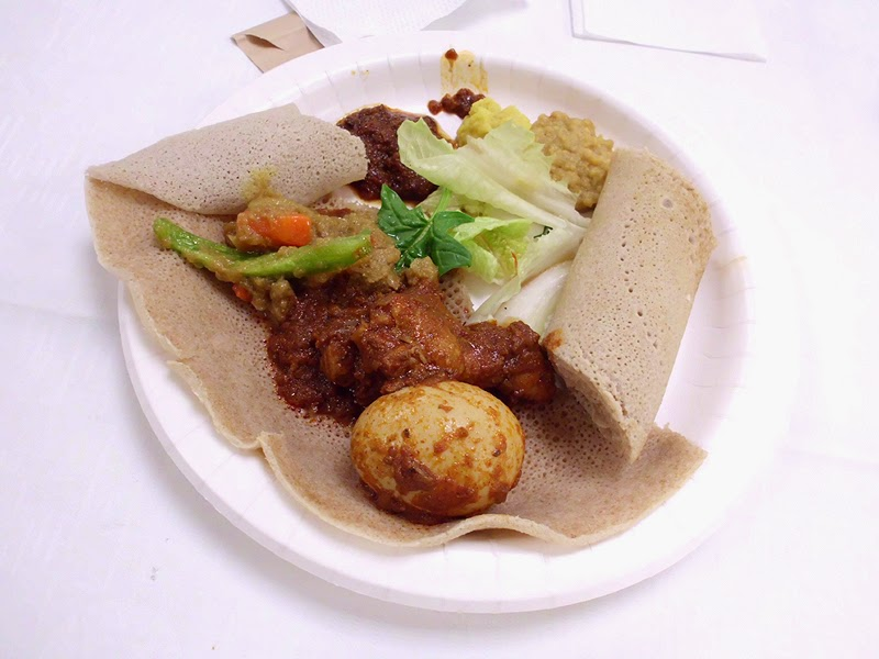 エチオピア料理インジェラ